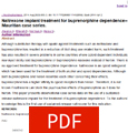 Naltrexone implant treatment for buprenorphine dependence -- Mauritian case series